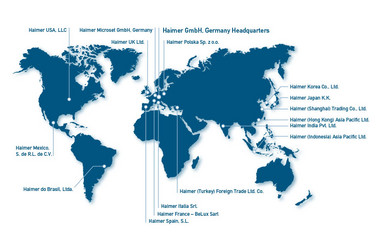 Haimer subsidiaries worldwide