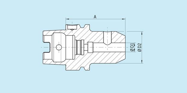 14 mm Diameter Version SK 40 Long Haimer 40.301.14 Weldon Tool Holder