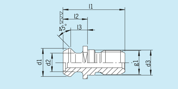 Pull stud ANSI - CAT 50 (MAZAK) with drill through