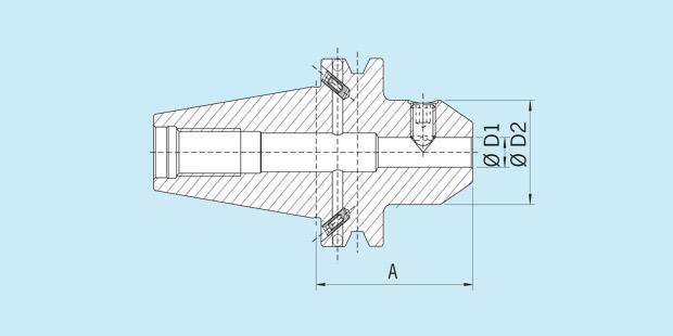 16 mm Diameter Version MAS//BT 50 Short Haimer 50.500.16 Weldon Tool Holder