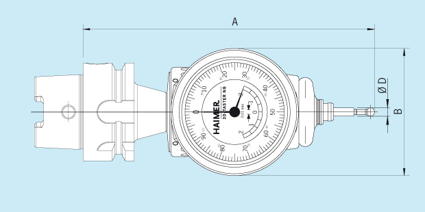 Measuring Instrument 3D-Sensor New Generation with integrated short adapter Technical Drawing