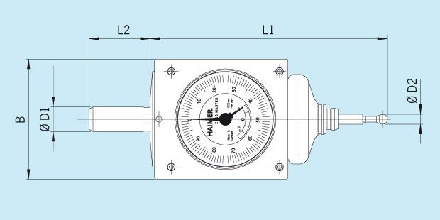 Measuring Instrument 3D-Sensor Zero Master Technical Drawing