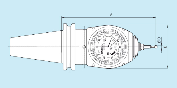 Measuring Instrument Universal 3D-Sensor with integrated adapter Technical Drawing