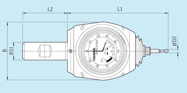 Measuring Instrument Universal 3D-Sensor Technical Drawing