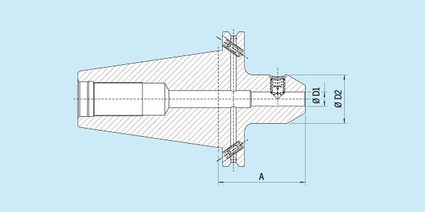6 mm Diameter Version SK 50 Haimer 50.301.06 Weldon Tool Holder Long